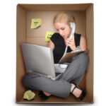 Small Business Woman in Office Box