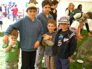 Some of the grandkid's at Joel's Bombay School Calf Club Day.