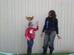 Callum and Tuffy -a moment before Tuffy performed her trick!