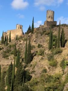 Lastours Castles Montagne Noir - fancy living up there Oct 2015
