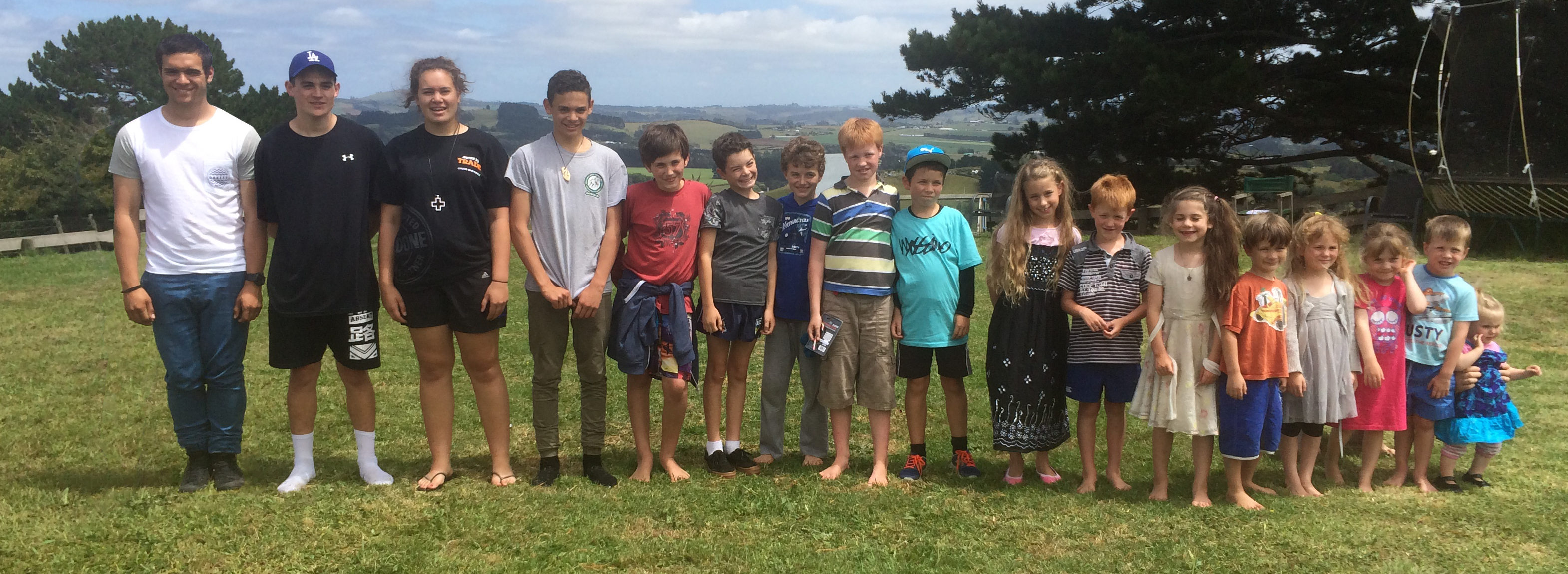 Some of my field experience – the grandchildren. Yes, they're all mine!